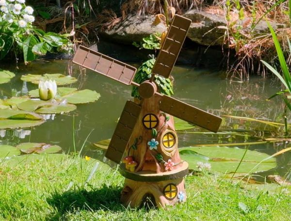 Solar-Powered Windmill Garden Ornament