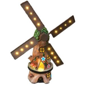 Solar Powered Windmill garden ornament