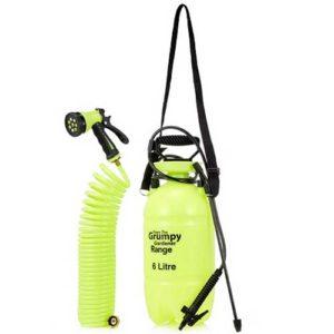 Grumpy Gardener Sprayer Kit with 6 litre bottle plus over shoulder strap and long hosepipe