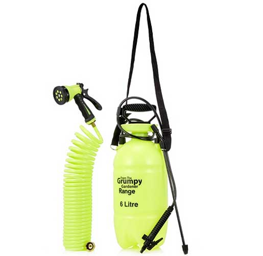 Grumpy Gardener Sprayer Kit with 6 litre bottle plus over shoulder strap and long hosepipe