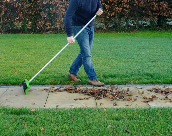 The Rake Broom used on patio's or foot paths in dry or wet conditions
