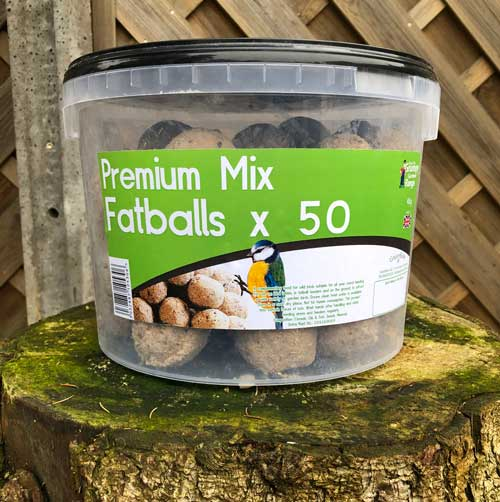 Tub of 50 premium Fatballs bird food