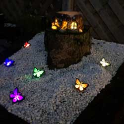 Butterfly solar lights six in a set