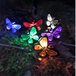 Solar Butterfly String Lamp Set