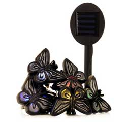 Six solar butterfly lights