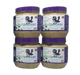 4 Jars Nut Pecker Peanut Butter Enriched Bird Food