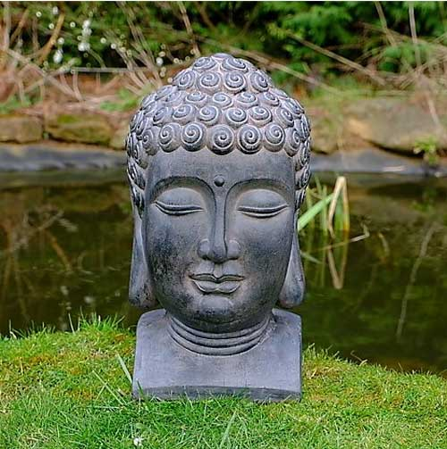 Buddha head garden ornament