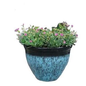 Set of 2 light weight Grumpy Gardener Planters in blue