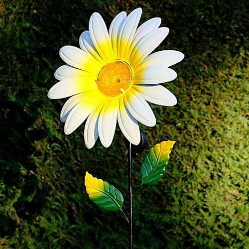 Solar Daisy Flower Stake