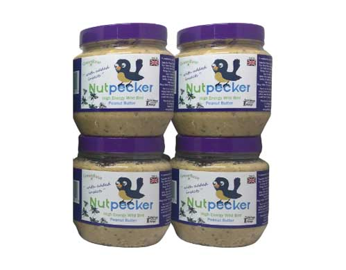 The Nut Pecker jars with a purple lid includes added fruit