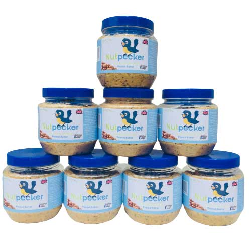 NutPecker peanut butter food jars