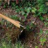 Dirt Demon garden hoe with wooden handle