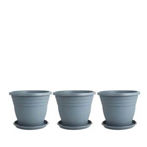 Jennings Set of 3 x 35cm Plant Pots & Saucers