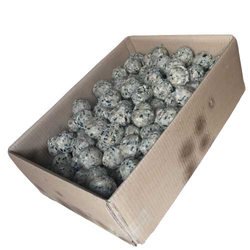 An open box of 150 deluxe mix fatballs from The Grumpy Gardener