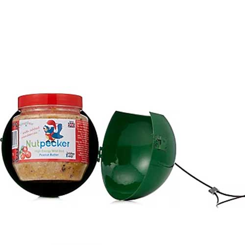 Green Nutpecker peanut butter bird food bauble